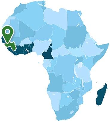 Guinea Africa Map