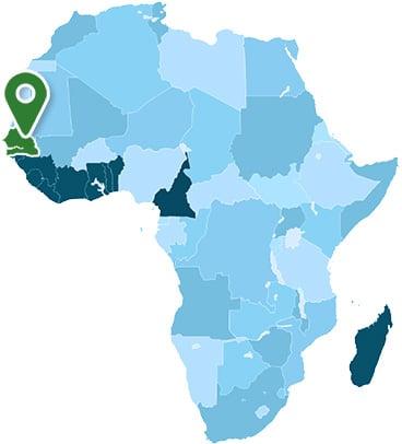 Senegal Africa Map