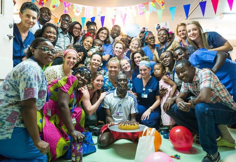 Geburtstagsfeier auf Station Patient