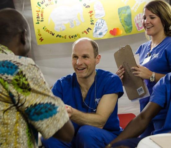Dr. Guido Köhler bei einem Screening