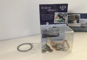 Spendenbox für Geschäfte