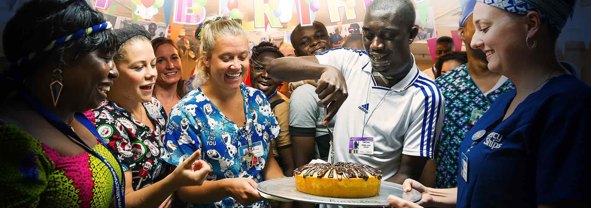 Anlassspende Geburtstag Kuchen Station