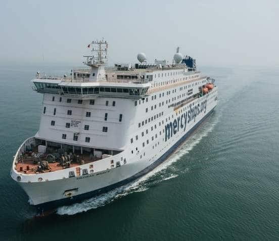 Die Global Mercy hat die See-Erprobung bestanden